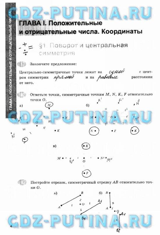 гдз по математике 6 класс Зубарева, Мордкович рабочая тетрадь Ерина