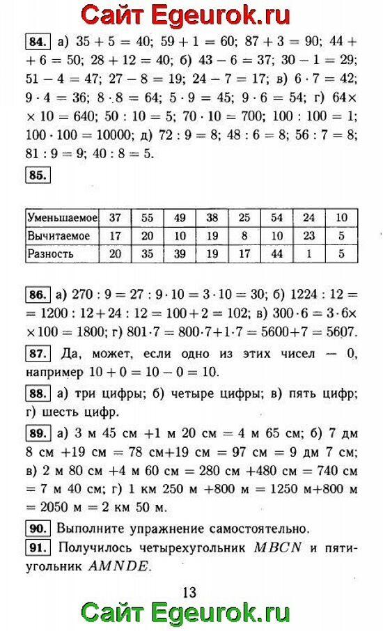 ГДЗ по математике 5 класс - Виленкин - решение задания номер №84-91.