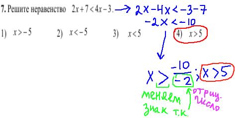 решение задания №7 кдр по математике 9 класс
