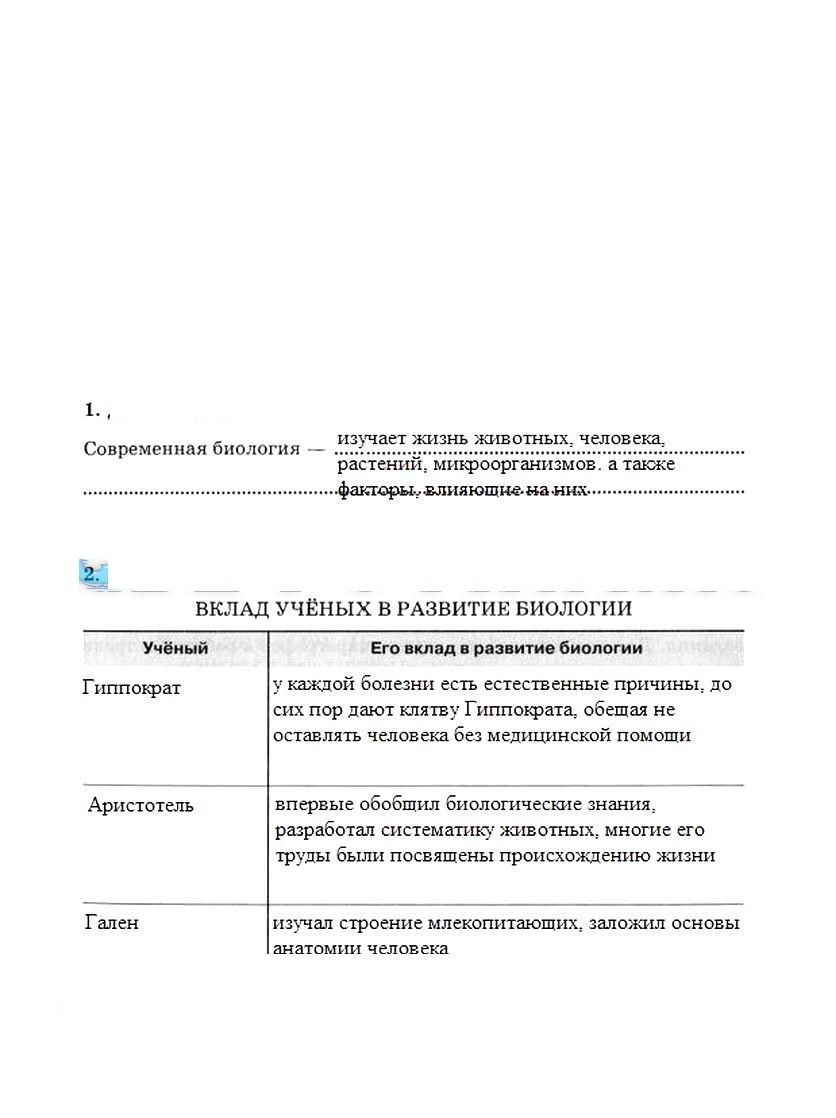 гдз по биологии 10-11 класс Сивоглазова.